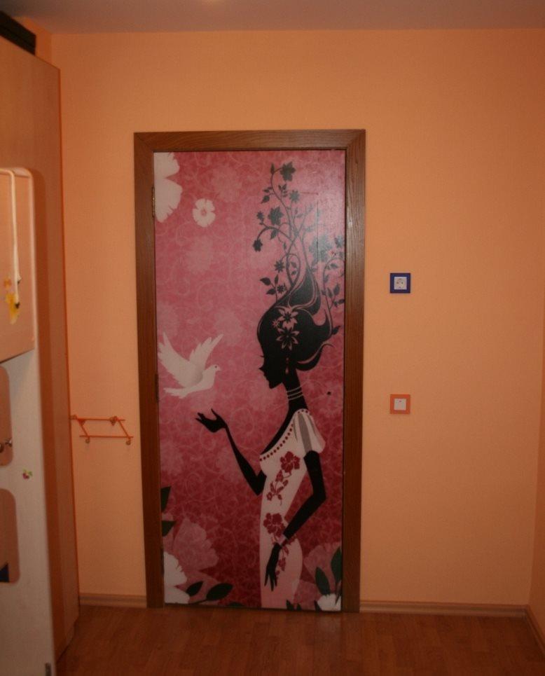 Фото декора своими руками межкомнатных дверей