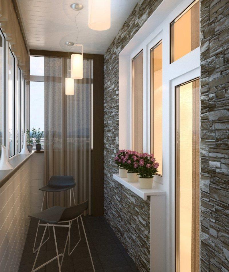 Дизайн лоджии первый этаж
