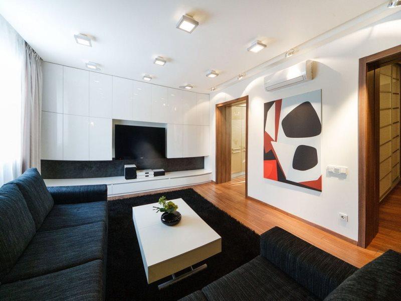 Интерьер гостиной фото в стиле минимализм