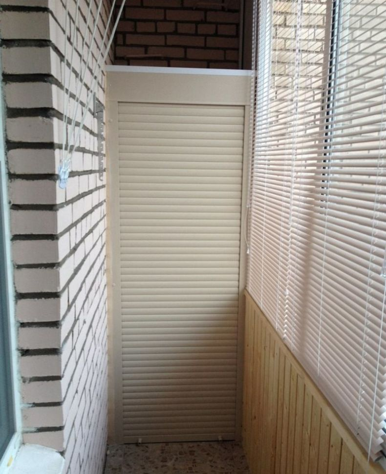 Closet to the balcony