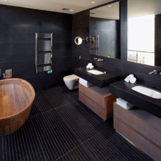 Черная ванная — фото как оформить стильный дизайн темного цвета для ванной комнтаы