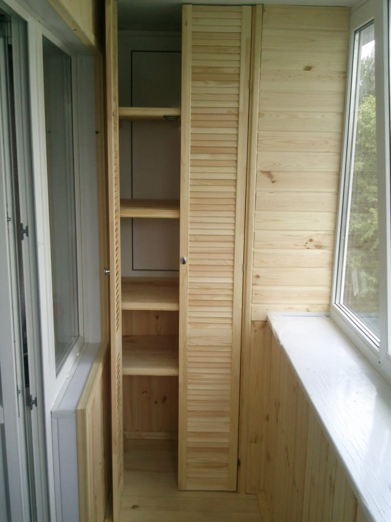Шкафы на балконе своими руками
