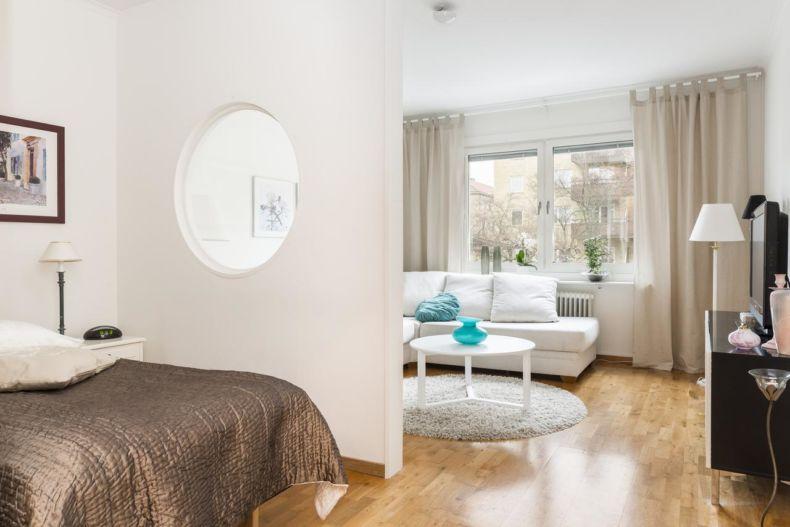 гостиной в квартире в современном стиле