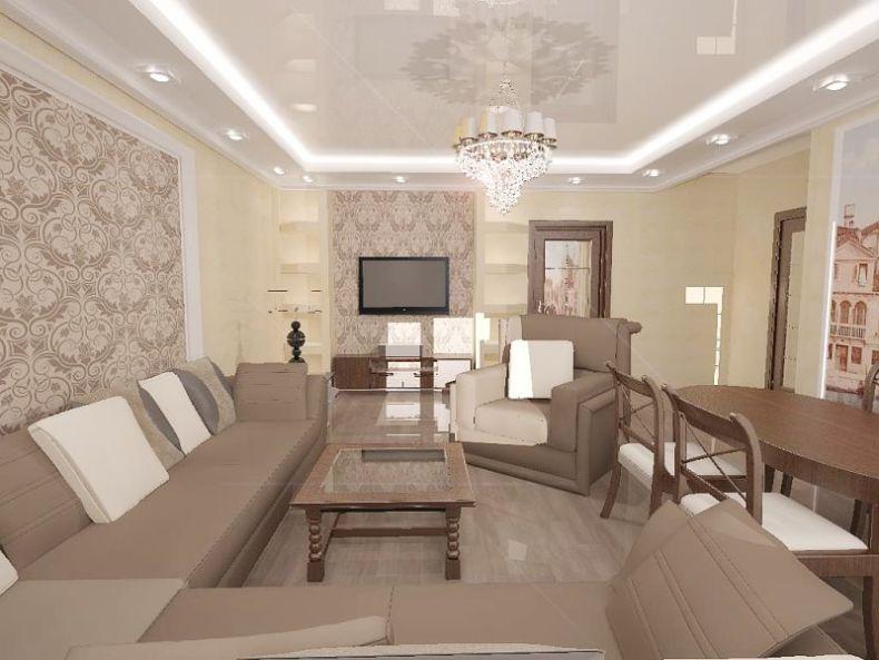 Дизайн интерьера зала 20 кв.м фото 2017