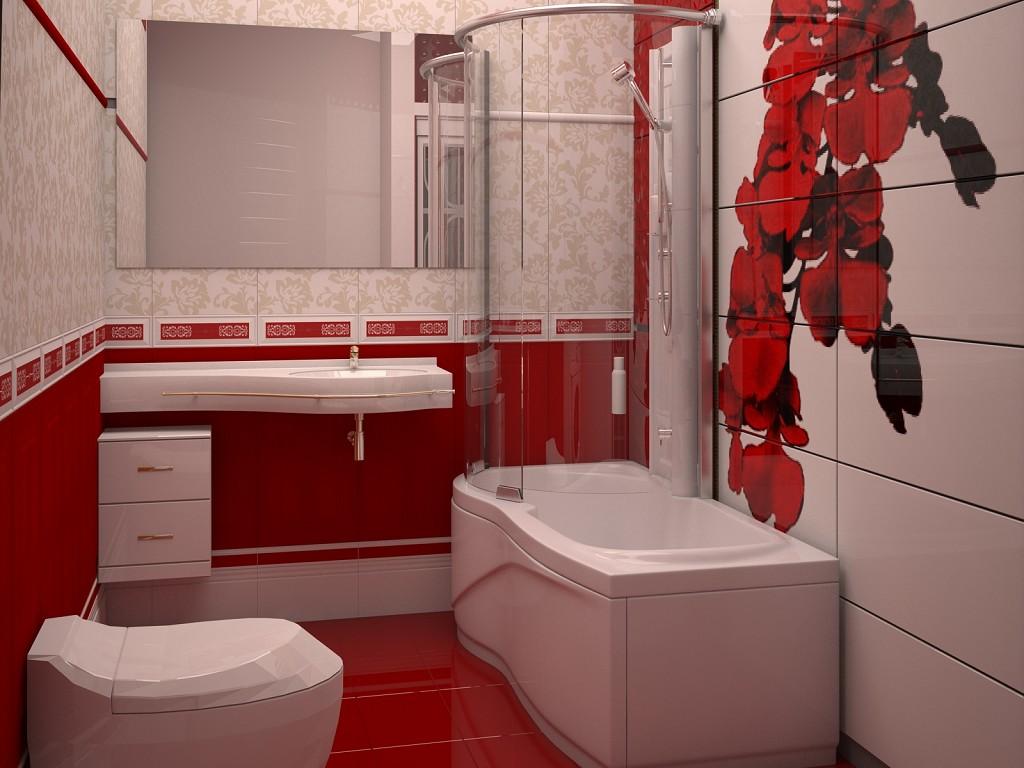Цвет розовый в дизайне ванной