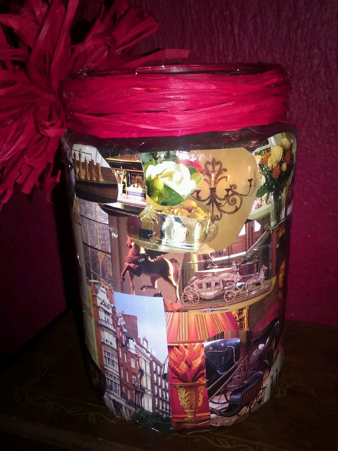 handmade-decoupage-glass-jar-red-rafia-bow-home-_57