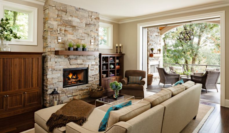 modern-stone-fireplace-design-ideas-cream-living-room