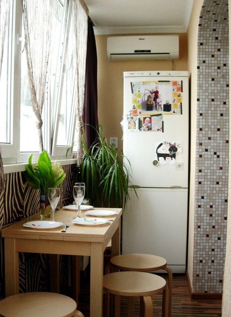 Дизайн кухни на маленьком балконе дизайн кухни - фото, описа.