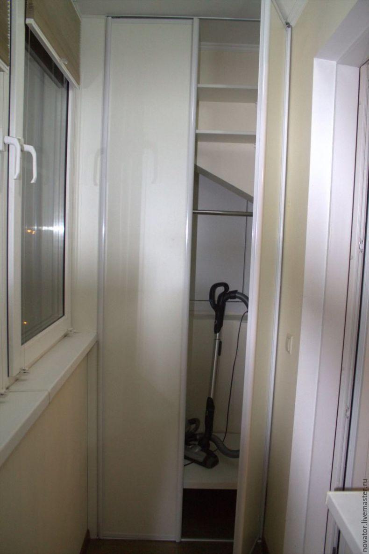 Угловой шкаф купе на балкон своими руками 68