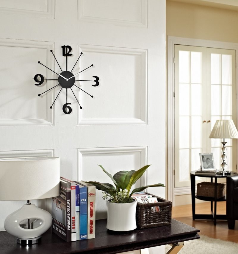 black-and-white-wall-and-clock