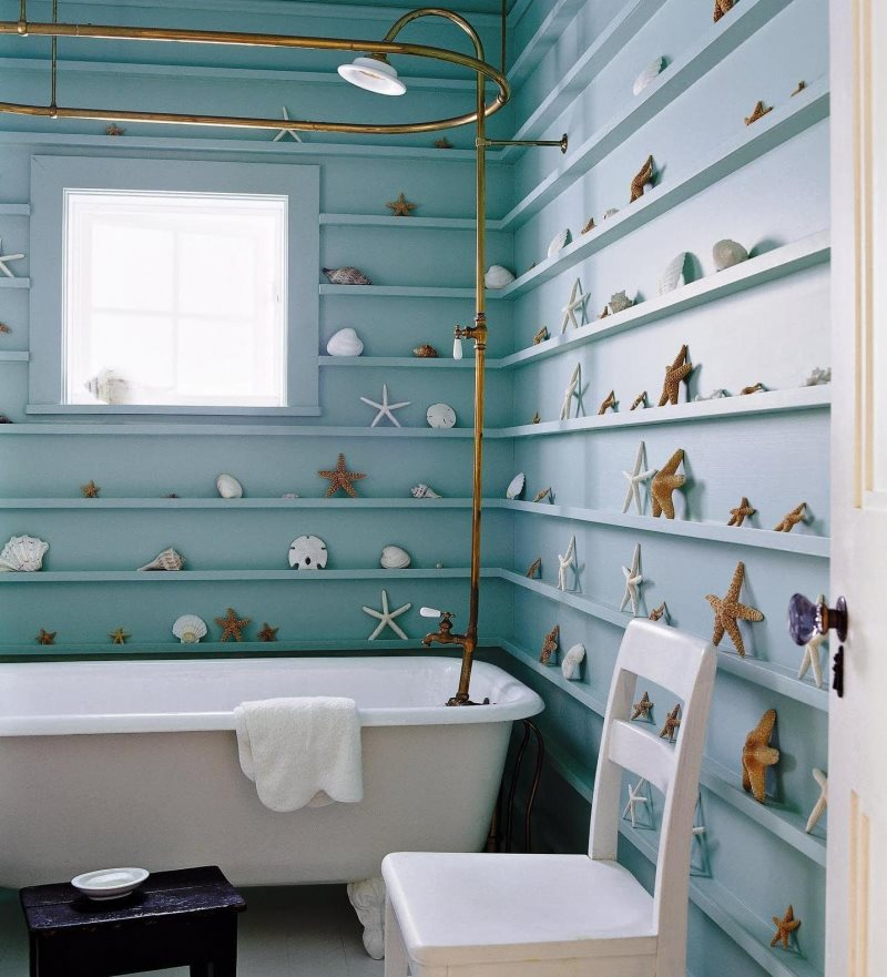 blue-wooden-shelves-on-the-wall-full-of-star-fish-ornaments-f-added-with-glass-window-also-white-bath-up-completed-shower_house-shower-ideas_ideas_fingernail-design-ideas-hgtv-shower-apartment-web-sma