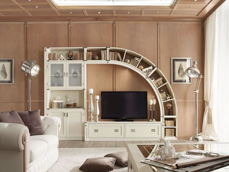 compelling-rustic-style-living-room-as-well-as-media-wall-units-and-two-drawers-under-tv-in-in-four-door-cabinets-with-painted-finish-living-room-wall-unit-feature-curved-wood-bookshelf_bookshelf-door