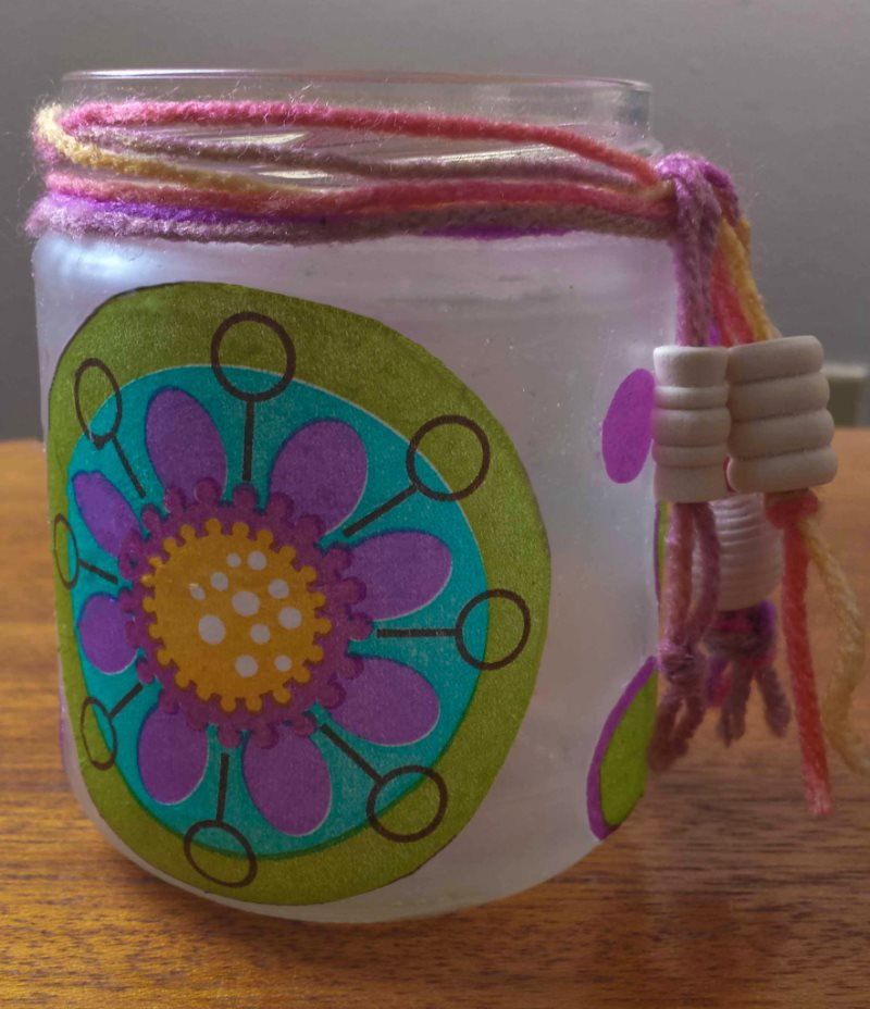 decoupage-glass-jar-yarn-with-beads-883x1024