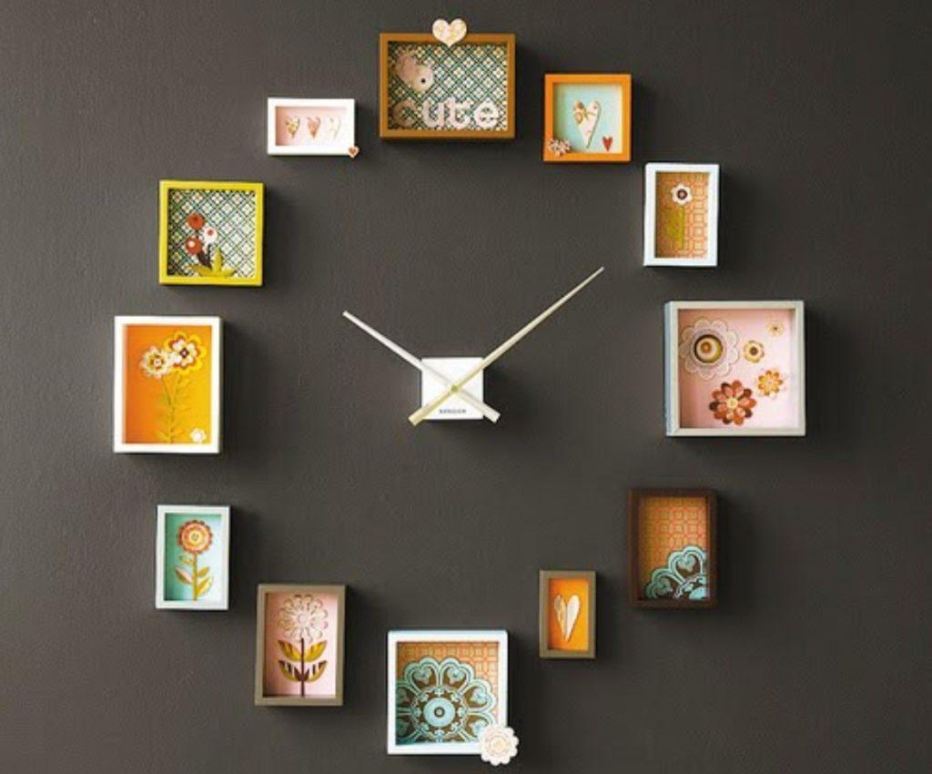 Часы на стену из старых часов своими руками фото