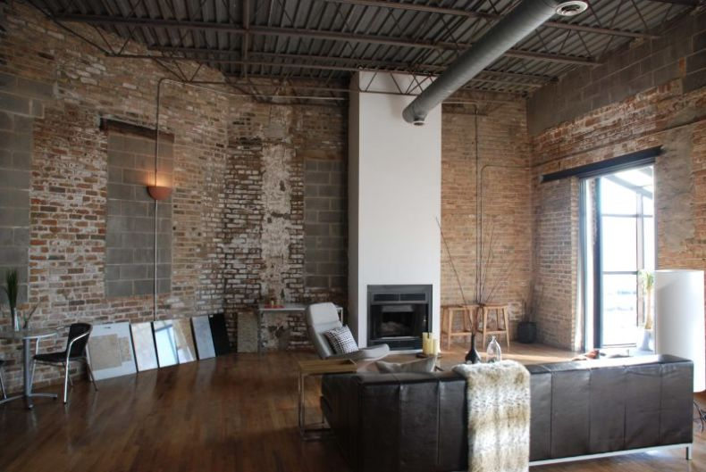 exposed-bricks-loft-style-leather-couch