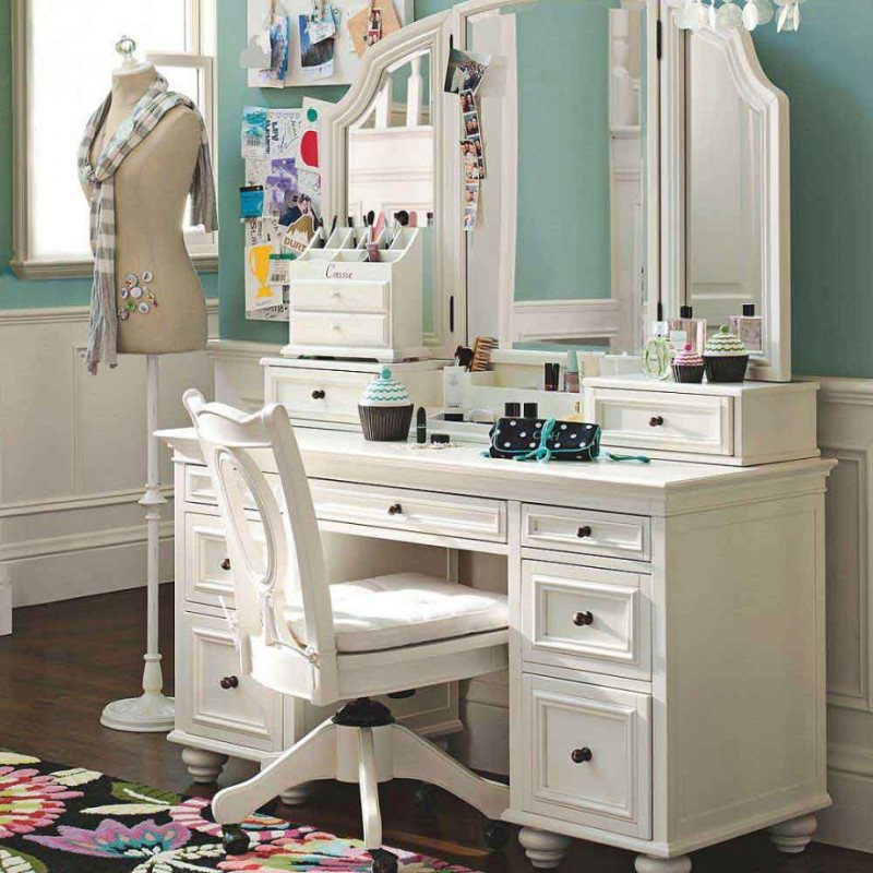 furniture-astounding-picture-of-girl-bedroom-design-and-decoration-using-light-blue-bedroom-wall-paint-including-white-wood-makeup-dressing-table-with-mirror-and-vanity-dressing-table-lamp-outstanding
