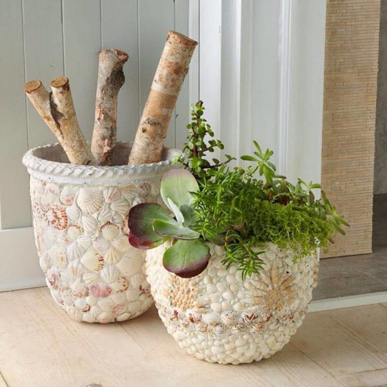Декор пластикового горшка для цветов своими руками - ItHour