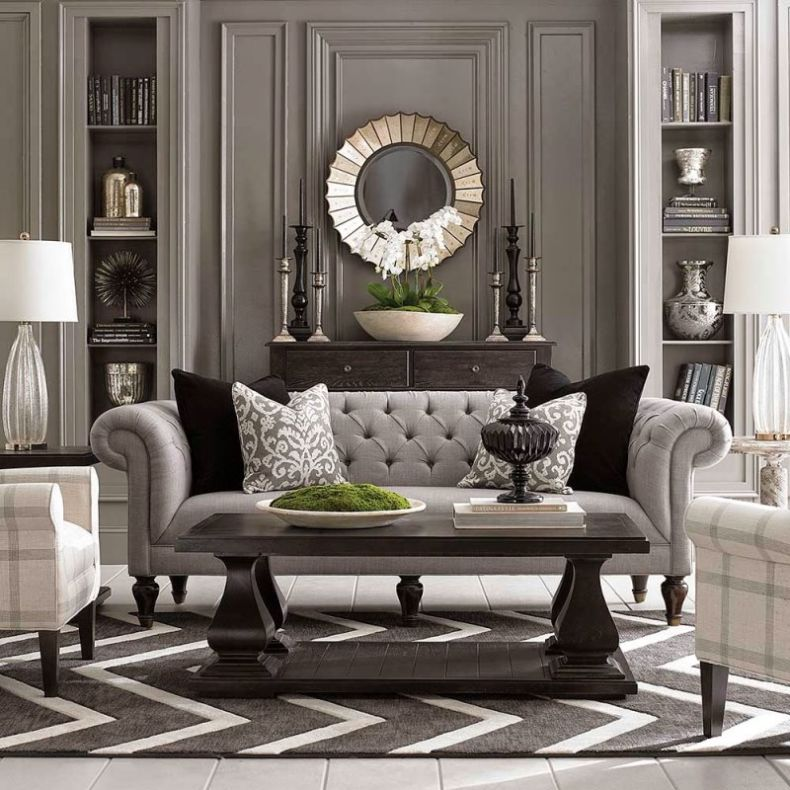 modern-chesterfield-sofa-in-traditional-grey-living-room-designhomeas-com