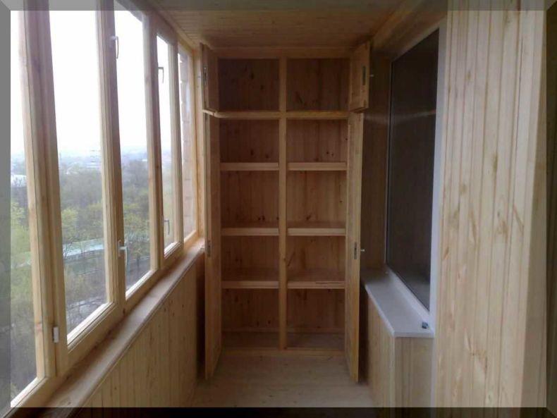 Низкий шкаф на балкон своими руками