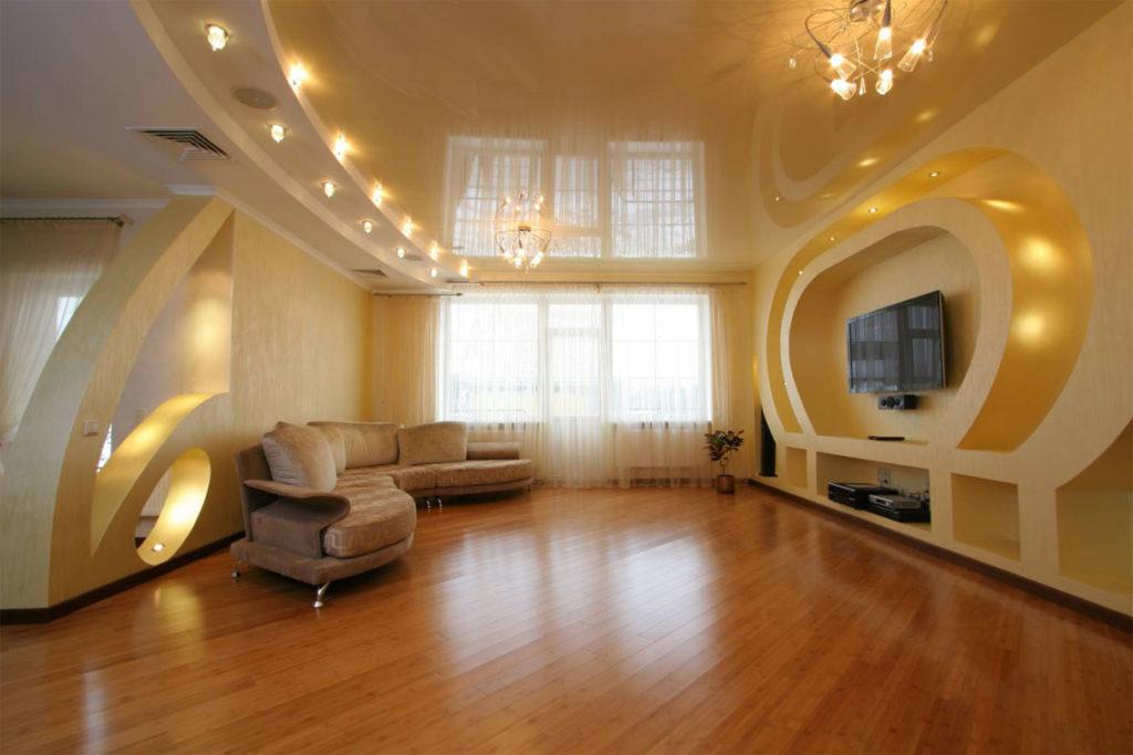 Дизайн освещения потолков натяжных потолков фото