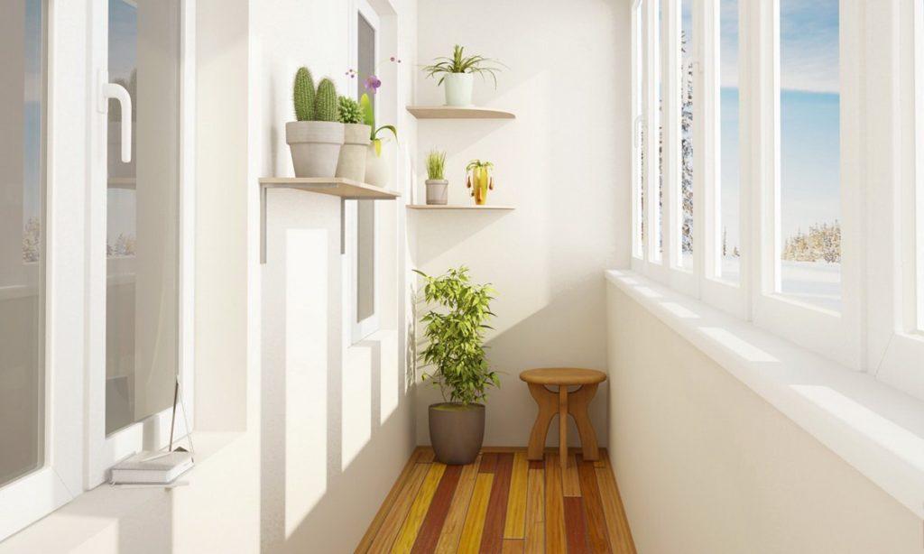 Отделка балкона - фото современных идей в оформлении балкона.
