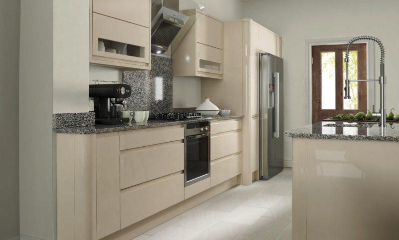 фото кухня бежевого цвета