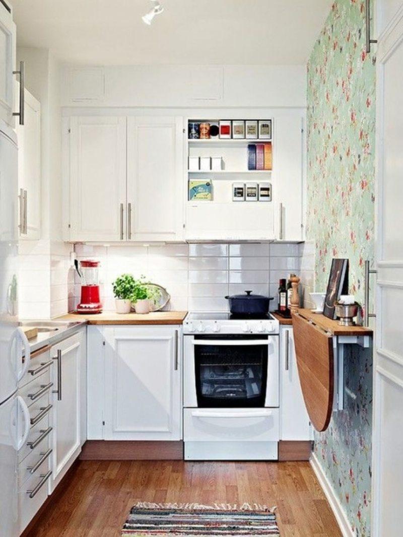Дизайн узкой кухни (1)