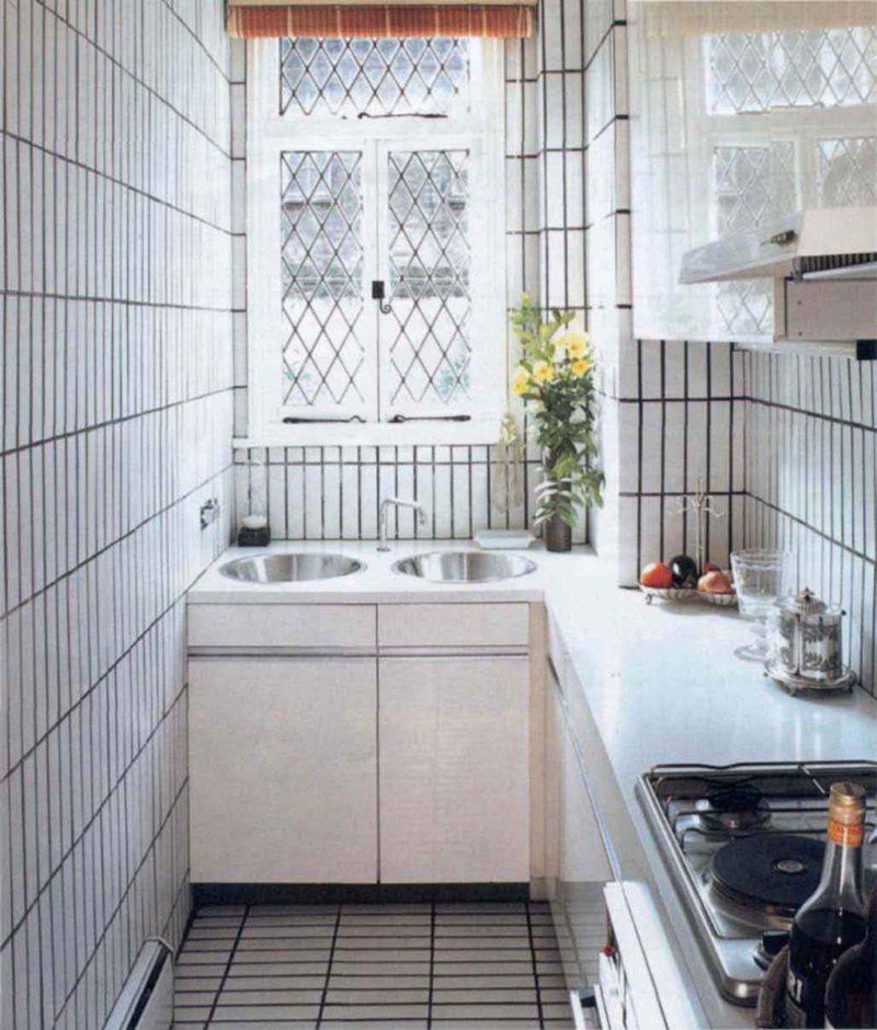 Дизайн узкой кухни (10)