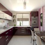 Дизайн узкой кухни (11)