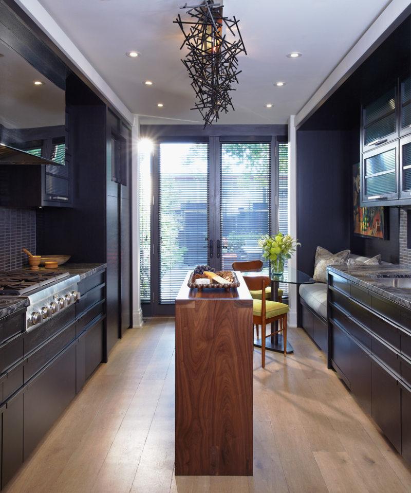 Дизайн узкой кухни (12)