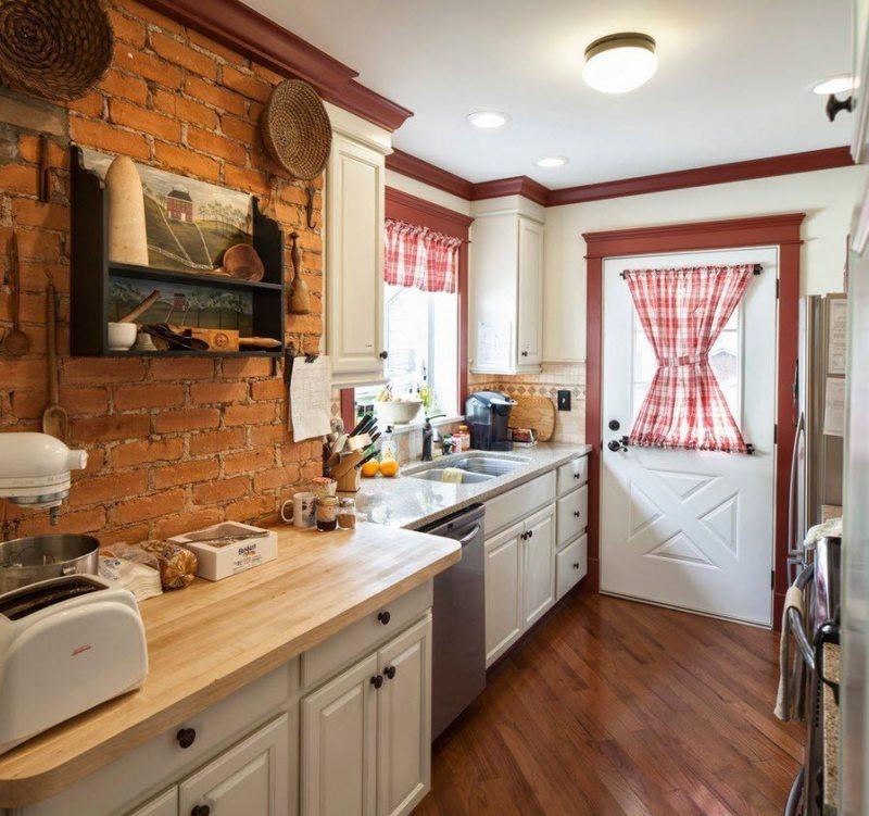 Дизайн узкой кухни (13)