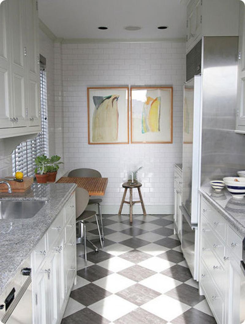 Дизайн узкой кухни (15)