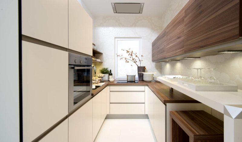Дизайн узкой кухни (17)