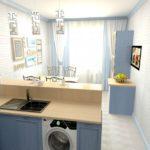 Дизайн узкой кухни (20)