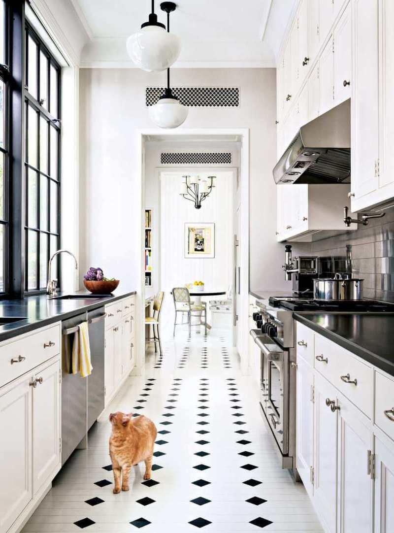 Дизайн узкой кухни (24)