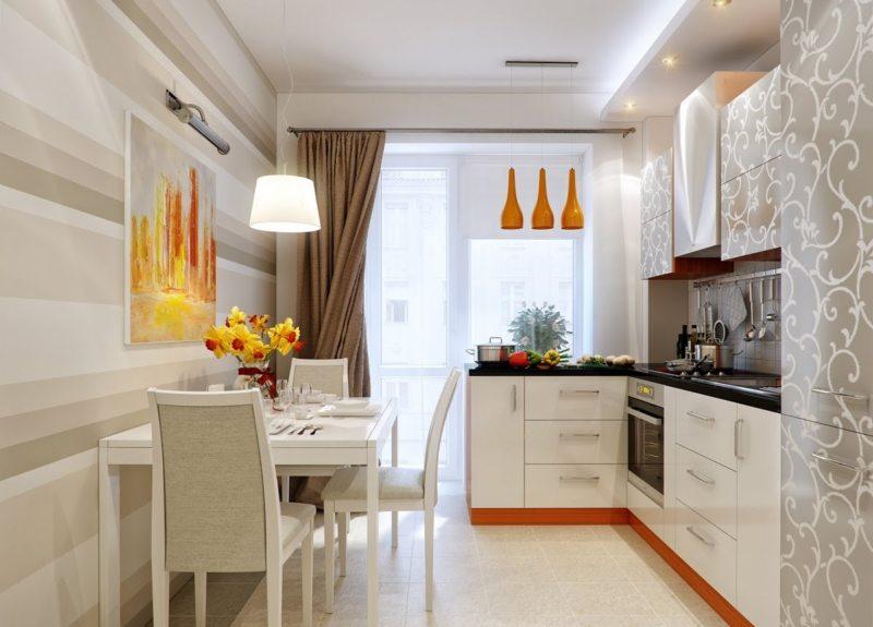 Дизайн узкой кухни (3)