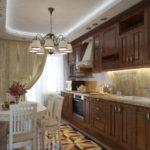 Дизайн узкой кухни (34)