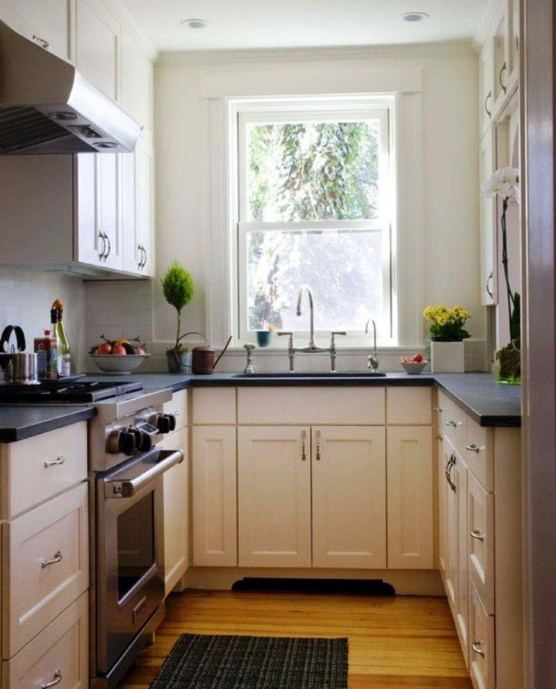 Дизайн узкой кухни (4)