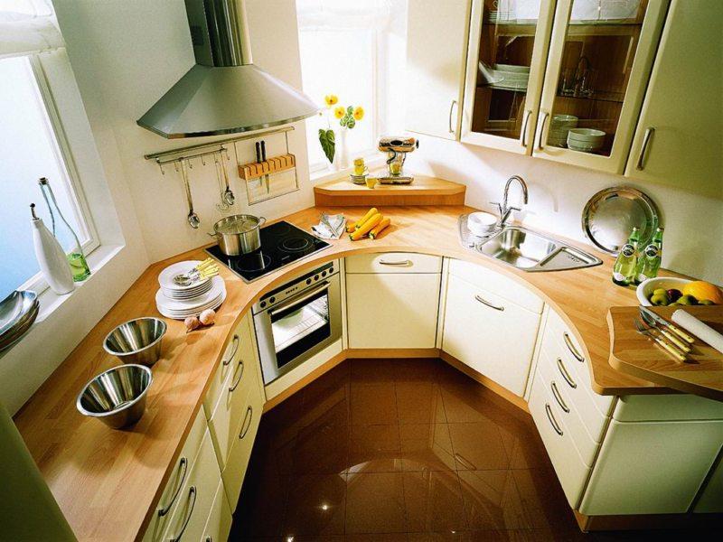 Дизайн узкой кухни (42)