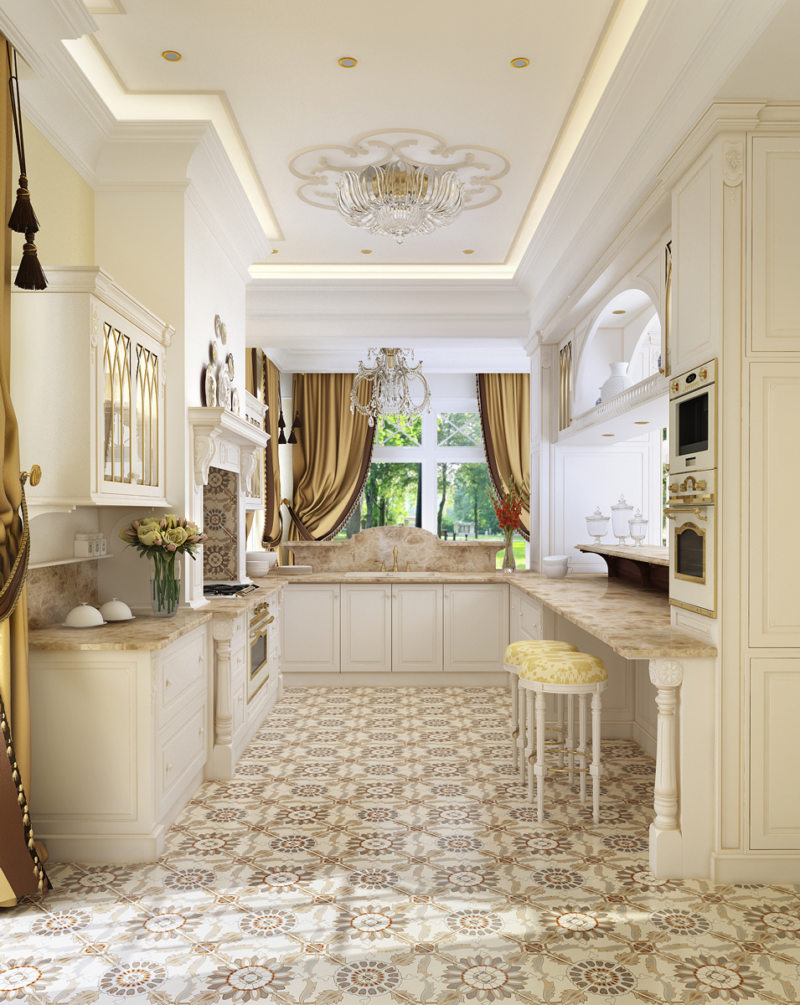 Дизайн узкой кухни (44)