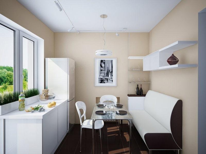 Дизайн узкой кухни (5)