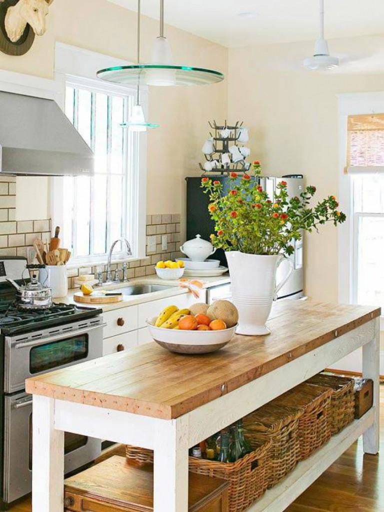 Дизайн узкой кухни (53)