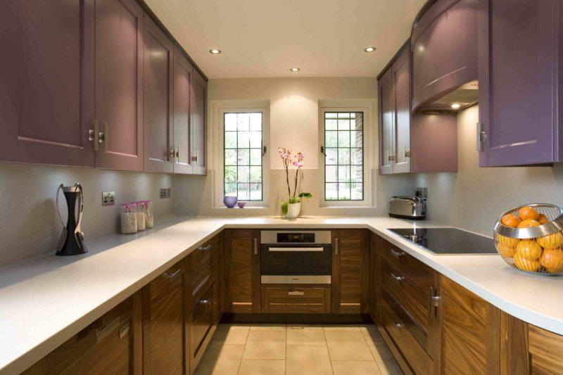 Дизайн узкой кухни (6)