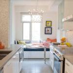 Дизайн узкой кухни (60)