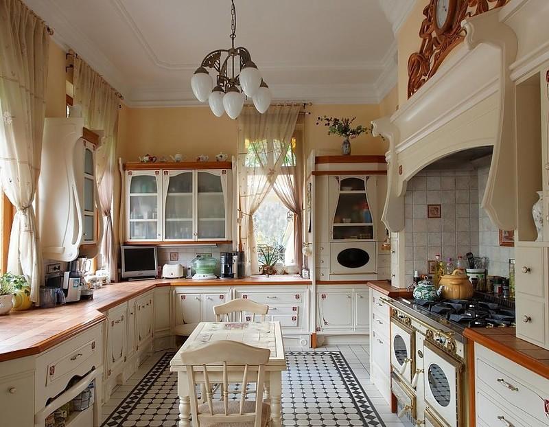 Дизайн узкой кухни (61)