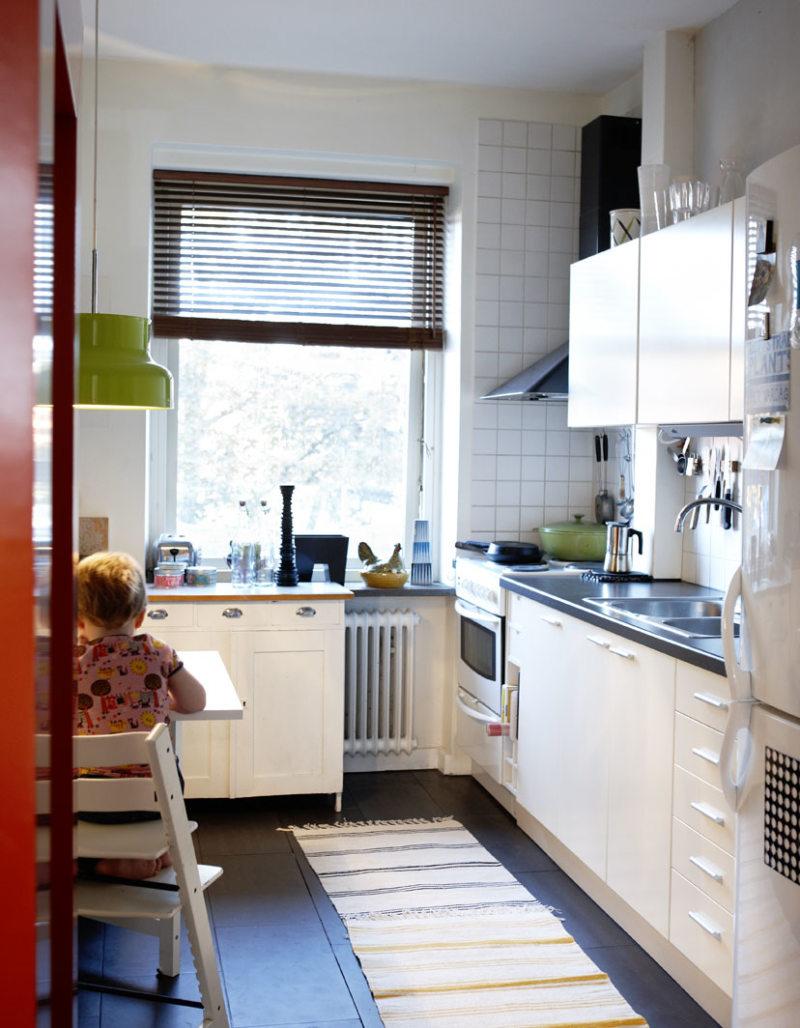 Дизайн узкой кухни (8)