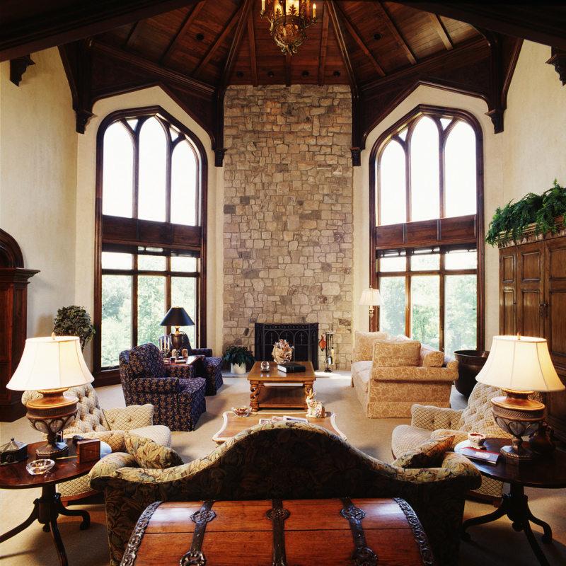Гостиная с двумя окнами (34)
