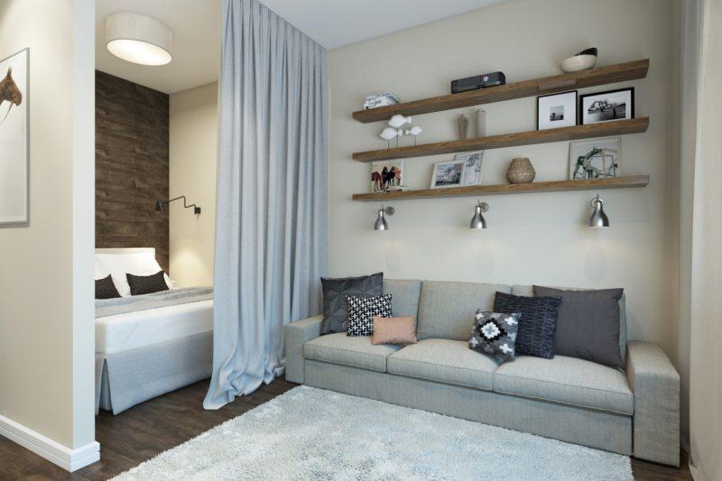 Гостиная в скандинавском стиле (18)