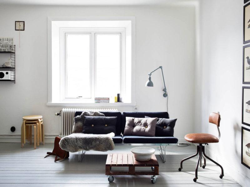 Гостиная в скандинавском стиле (19)