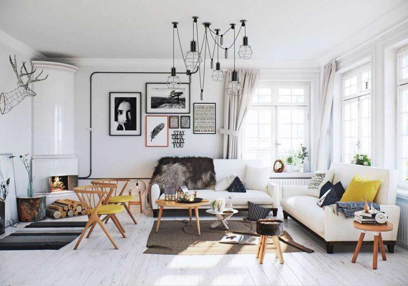 Гостиная в скандинавском стиле (27)